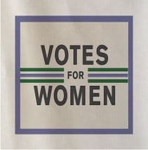 Vote For Women Printed Fabric Panel