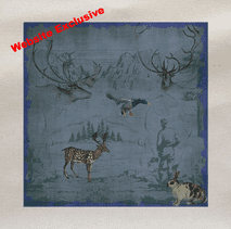 Woodland Deer Duck Stag Animal Printed Fabric Panel