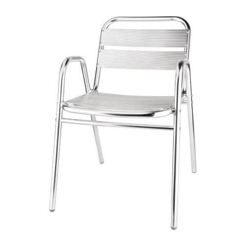 Aluminium Stacking Chair Arched Arms