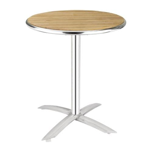Ash Top Round Flip-top Table 600mm
