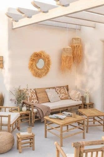 Bamboo Nest of Tables 5 Piece