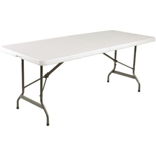 Centre Folding Table Rectangular 6ft White