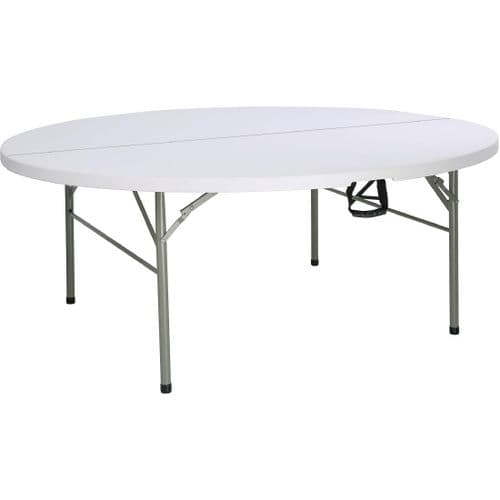 Centre Folding Table Round 6ft White
