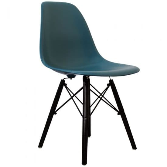 Eames Inspired DSW Side Chairs with Black Legs