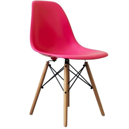 Eames Inspired DSW Side Chairs with Natural Legs.