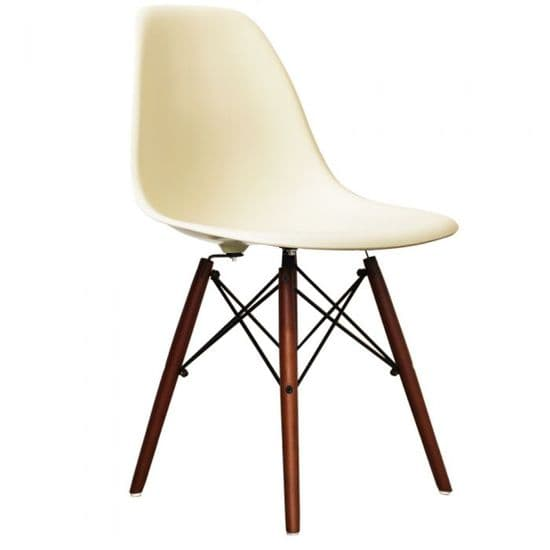 Eames Inspired DSW Side Chairs with Walnut Legs