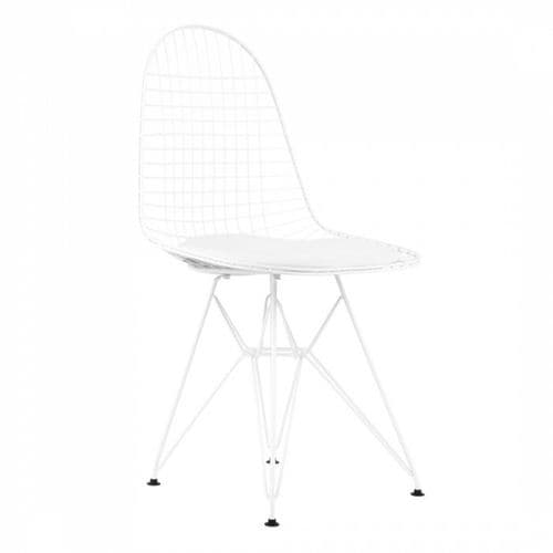 Eames Style DKR Wire Side Chair White