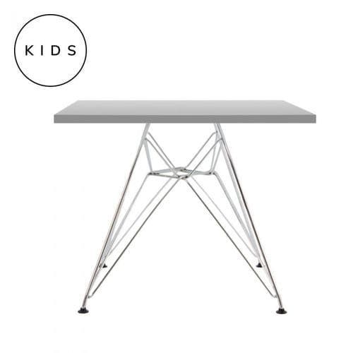 Eames Style Eiffel Square Table - Grey