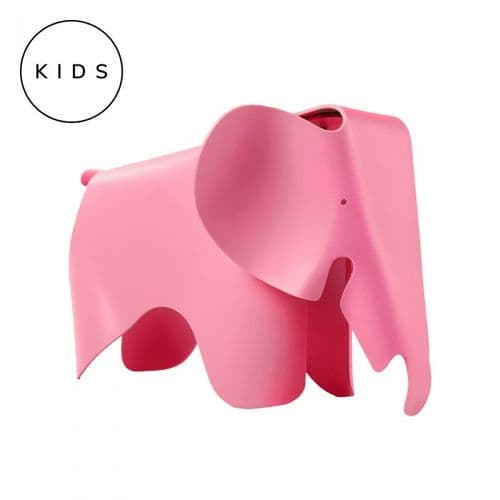 Eames Style Elephant Toy Stool - Pink
