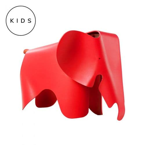 Eames Style Elephant Toy Stool - Red