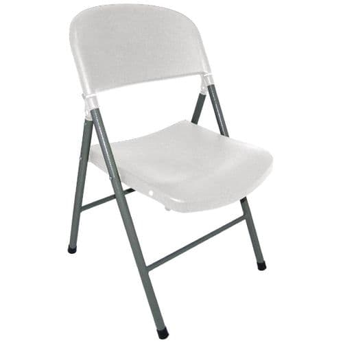 Foldaway Utility Chairs White (Pack of 2)