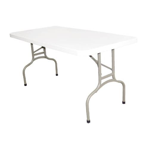 Folding Table Rectangular   5ft White