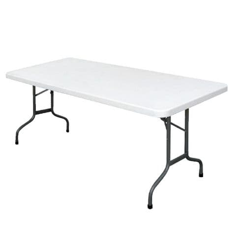Folding Table  Rectangular 6ft White
