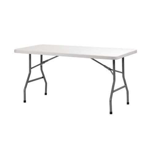 Folding Utility Table 5ft Grey