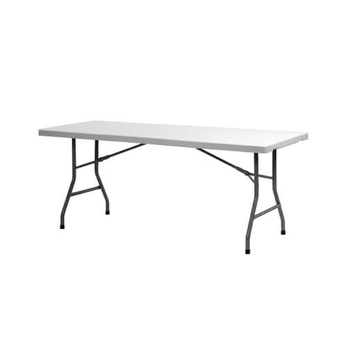 Folding Utility Table 6ft Grey