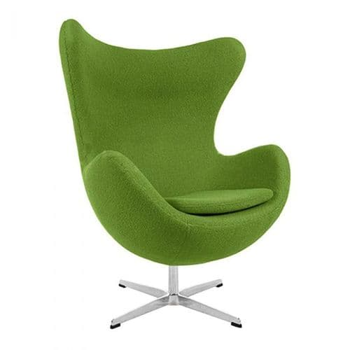 Jacobsen Style Egg Chair - Wool - Green