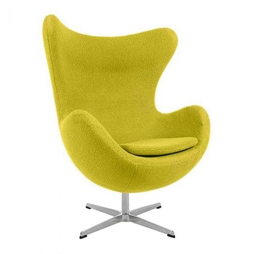 Jacobsen Style Egg Chair - Wool - Mustard