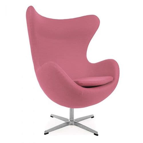 Jacobsen Style Egg Chair - Wool - Pink