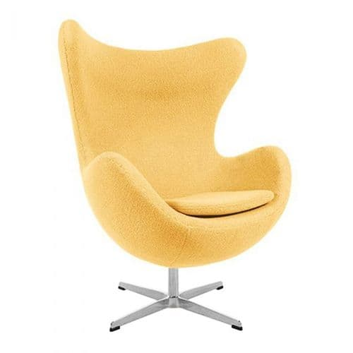 Jacobsen Style Egg Chair - Wool - Yellow