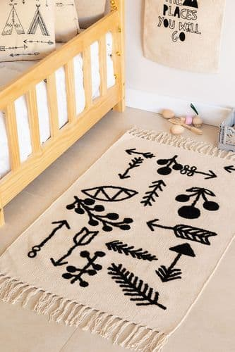 Kids Rectangle Indie Cotton Rug