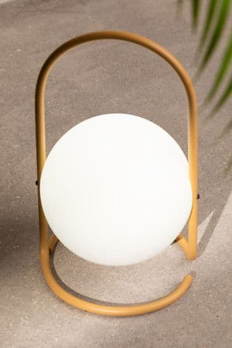 LED Outdoor Table Lamp - Cream