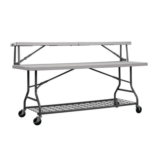Mobile Buffet Table Top Shelf 1840mm Grey