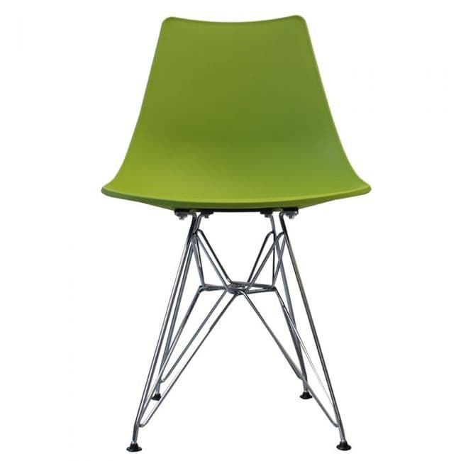 Nora DSR Side Chair Chrome Legs - Green