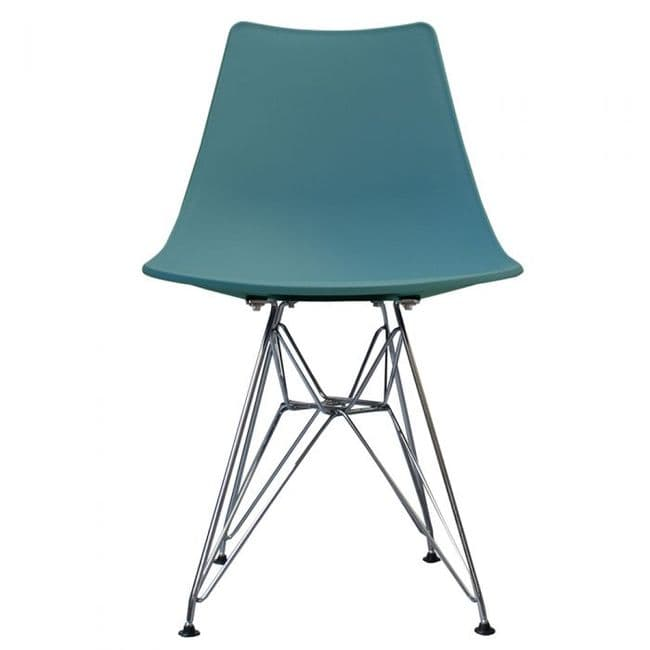 Nora DSR Side Chair Chrome Legs - Teal