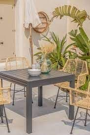 Outdoor  Expandable Table (90CM - 90X180cm) - Anthracite Grey