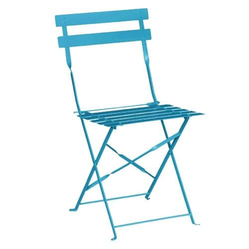 Pavement Style Steel Folding Chairs Blue (Pack of 2)