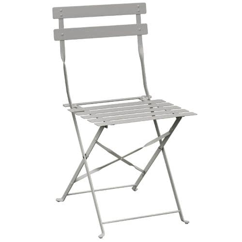 Pavement Style Steel Folding Chairs Grey (Pack of 2)