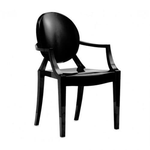 Philippe Starck Style Loius Ghost Chair Black