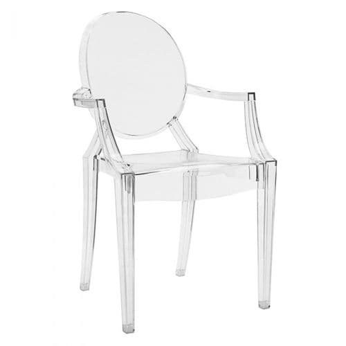Philippe Starck Style Loius Ghost Chair Clear