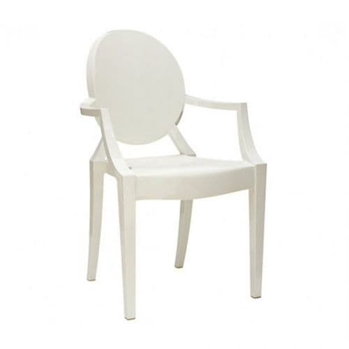 Philippe Starck Style Loius Ghost Chair White