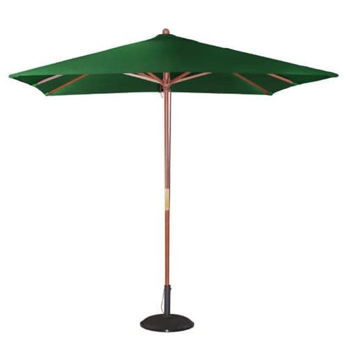 Square Double Pulley Parasol 2.5m Diameter Green