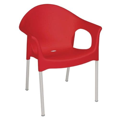 Stacking Bistro Armchair Red