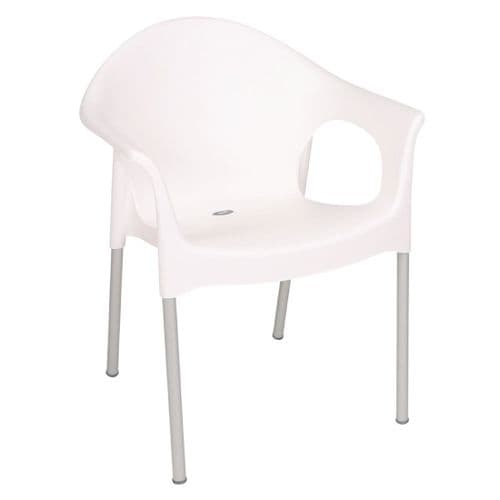 Stacking Bistro Armchair White