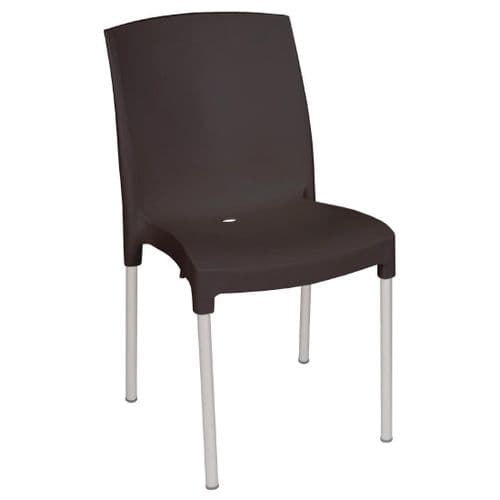 Stacking Bistro Side Chair Black