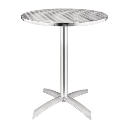 Stainless Steel Round Bistro Flip Top Table 600mm