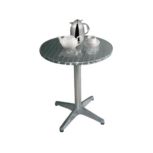 Stainless Steel Round Bistro Table 800mm