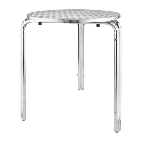 Stainless Steel Round Stackable Bistro Table 600mm