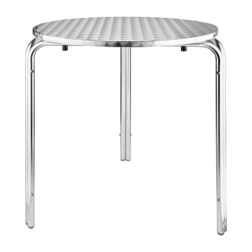 Stainless Steel Round Stackable  Bistro Table 700mm
