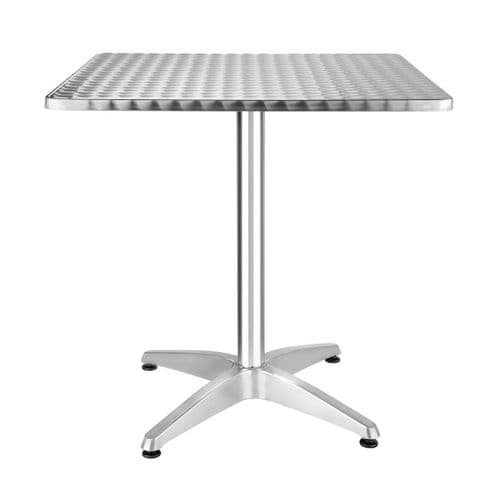 Stainless Steel Square Bistro Table 700mm