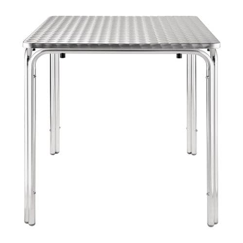 Stainless Steel Square Stacking Table Stainless Steel 700mm