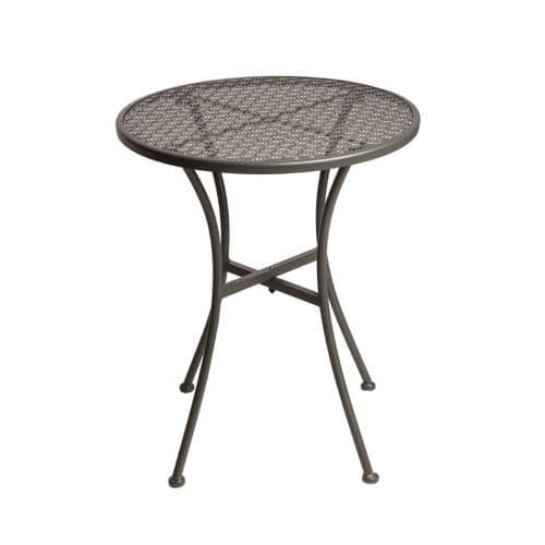Steel Patterned Round Bistro Table Grey 600mm