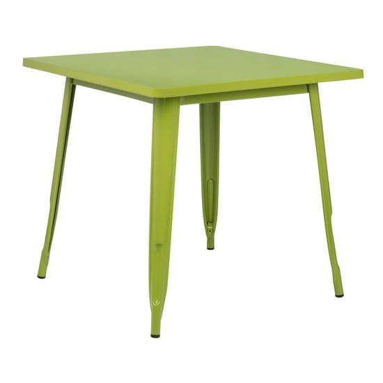 Tolix Square Table - Coloured Top
