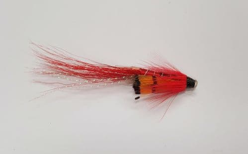ALLY'S  RED SHRIMP 25mm COPPER TUBE FLY FLY (SM90)
