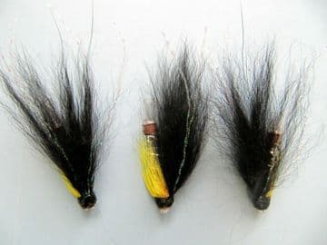 BLACK AND YELLOW 25mm COPPER TUBE FLY  (SM135)