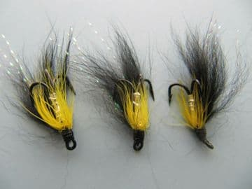 BLACK AND YELLOW SALMON FLY  SIZE12 (SM134)