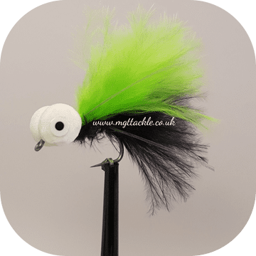 BLACK WITH LIME WING BOOBY Size 10  (BB30)